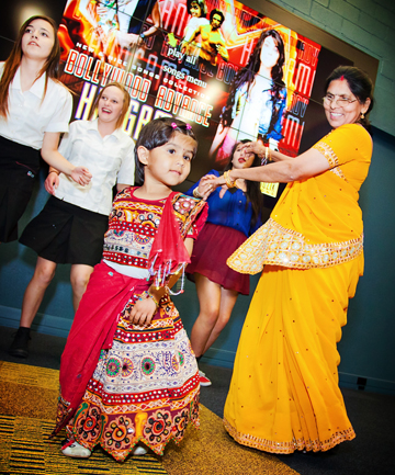Diwali dance: Levin three-year-old Isha Patel with grandmother Kusumben Patel take part in a Bollywood dancing workshop at Te Takere.
