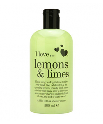 THE PRODUCT: Lemons & Limes bubble bath and shower cream.