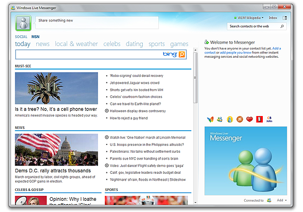 OUT WITH THE OLD: Microsoft's Windows Live Messenger.