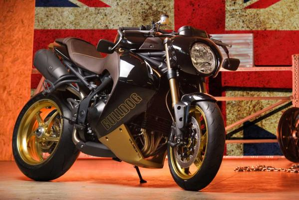 Vilner's modified Triumph Speed Triple called the Bulldog.