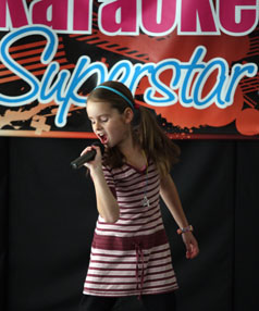 JUST LIKE MILEY:  Karaoke Superstar winner Esther Terrill from Annesbrook will be hoping for another winning performance at Tasman's Got Talent. Photo: ANNA PEARSON