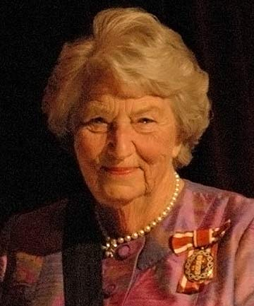 FAREWELLED: Lady June Blundell.