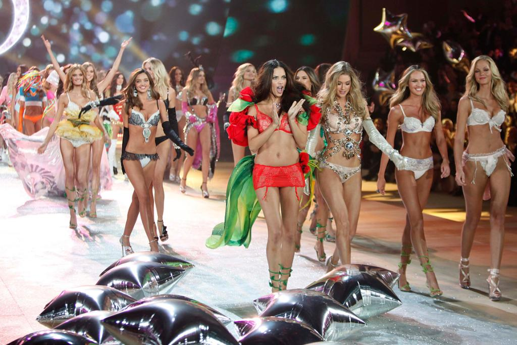 All the models come out to play at the Victoria's Secret 2012 runway show in New York.