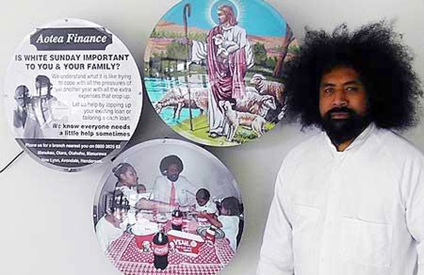 ON SHOW: Siliga Setoga, one of the three Pasifika artists exhibiting their work in The Engine Room.