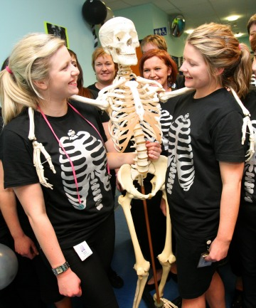 Sasha Smith and Jess Healy celebrate World Radiography Day