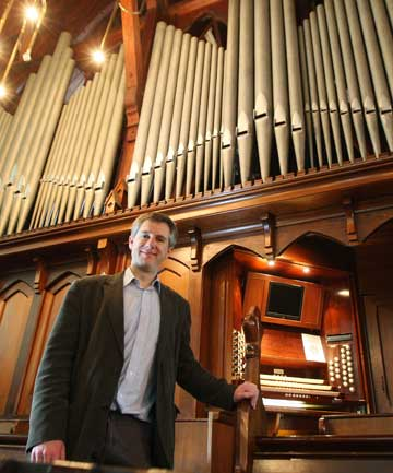 SHOW TUNES: The director of music from Parnell's Holy Trinity Cathedral Tim Noon, is joining forces with the Auckland Symphony Orchestra for a special concert combining film tunes and symphony.