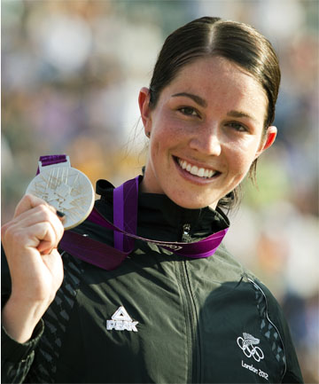 SILVER SMILE: New Zealand's Sarah Walker will be out of BMX for six months recovering from shoulder surgery.