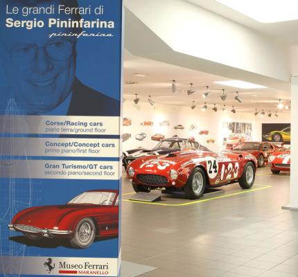 The great Ferraris of Sergio Pininfarina Exhibition.