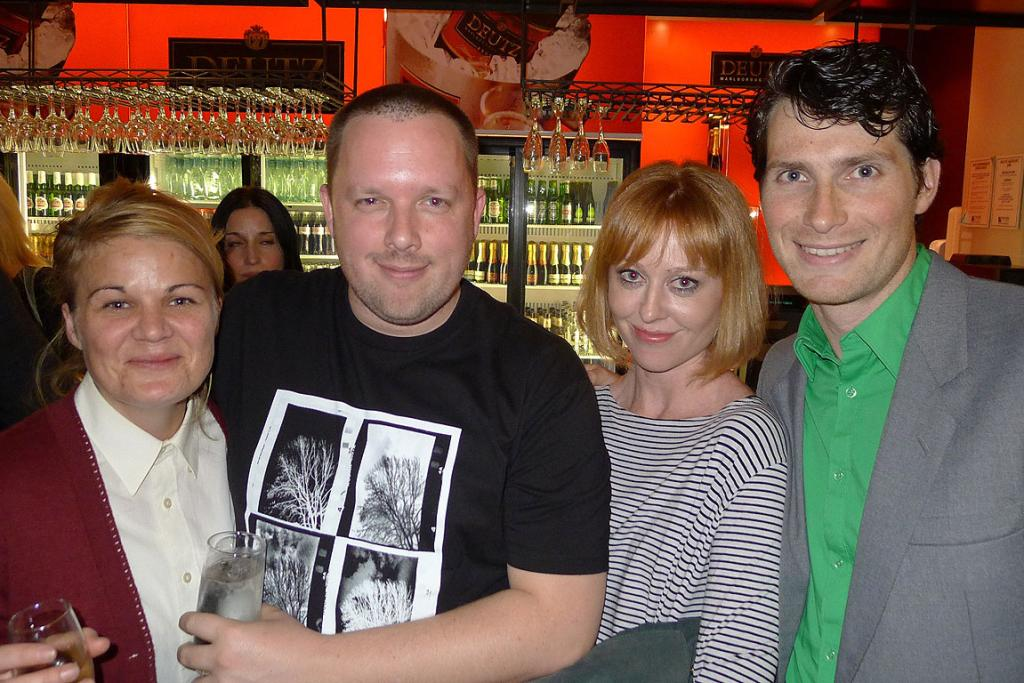 Abigail Greenwood, SiloTheatre's artistic director Shane Bosher, Sophie Roberts and Shortland Street's Sam Bunkall.