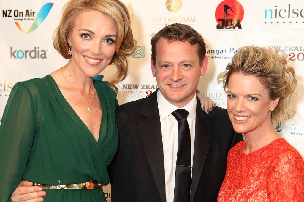TVNZ's Petra Bagust, Rawdon Christie and Jeanette Thomas.
