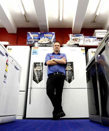 100% Appliances in Upper Hutt owner Darren Gittins says he is turning over more stock but at lower margins.