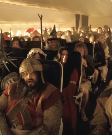 SKY-HIGH HOBBITS: The latest Air New Zealand safety video.