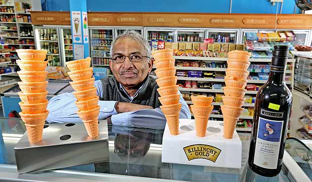 Jiten Patel will lose his liquor licence because his store sells too many icecreams.