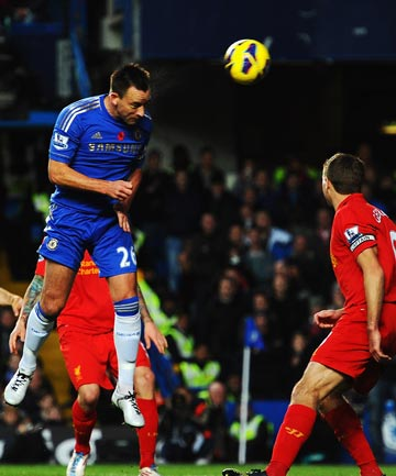 Chelsea's John Terry scores against Liverpool.