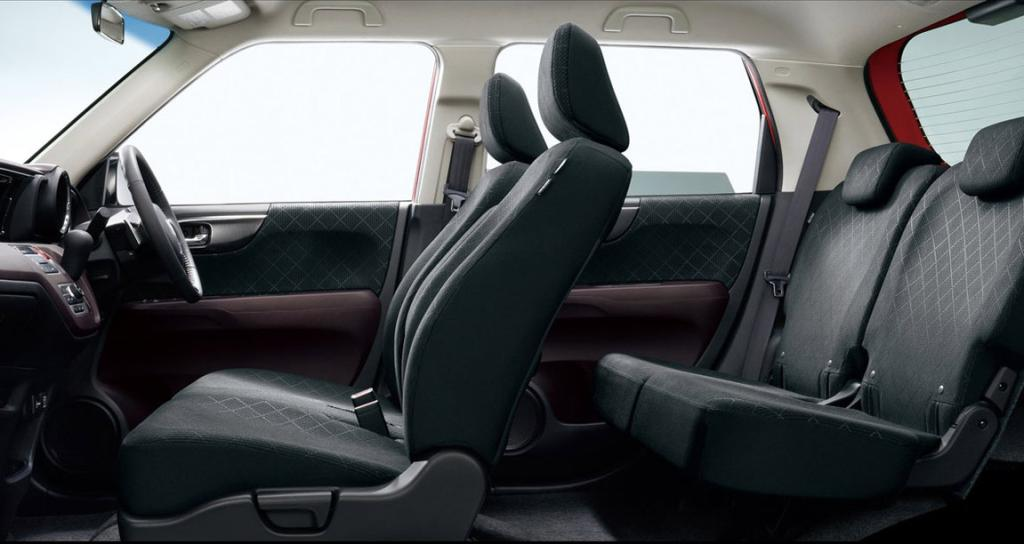 Spacious: For its size, the N-One has a lot of room.