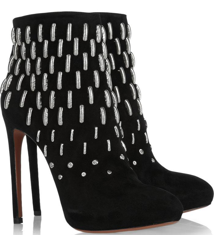 Alaia booties: I love the metallic details on these otherwise simple boots.