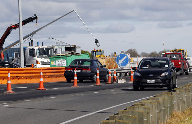 OPEN DAY: Cyclists and walkers can traverse part of the new Christchurch southern motorway this weekend.