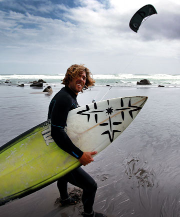 Californian kiteboarder Ian Alldredge