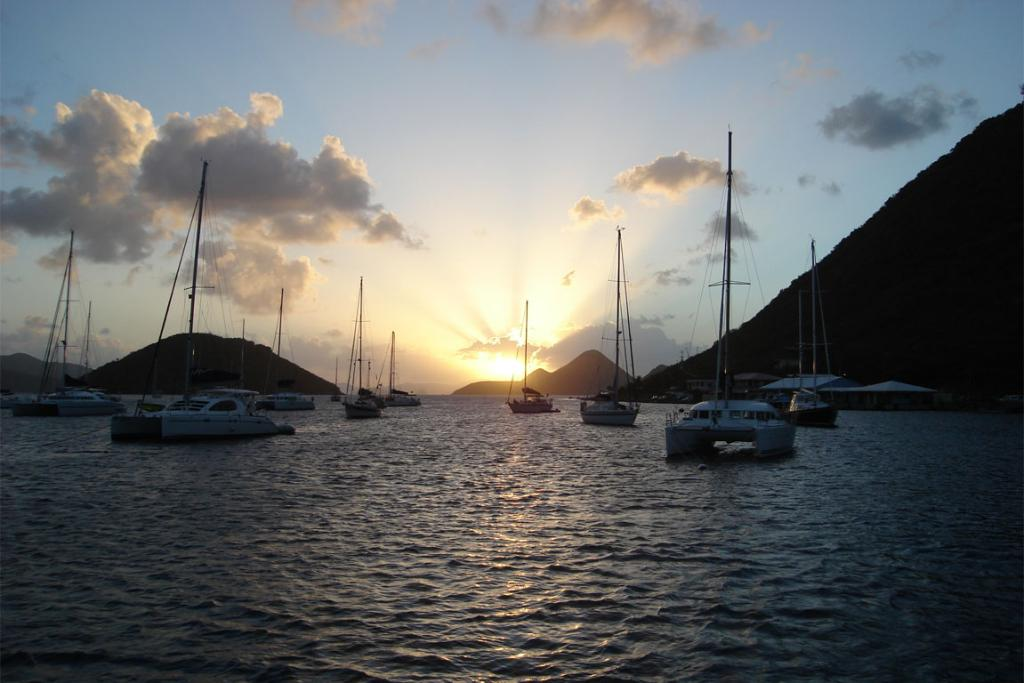 Sunset in the British Virgin Islands near Soper's Hole.