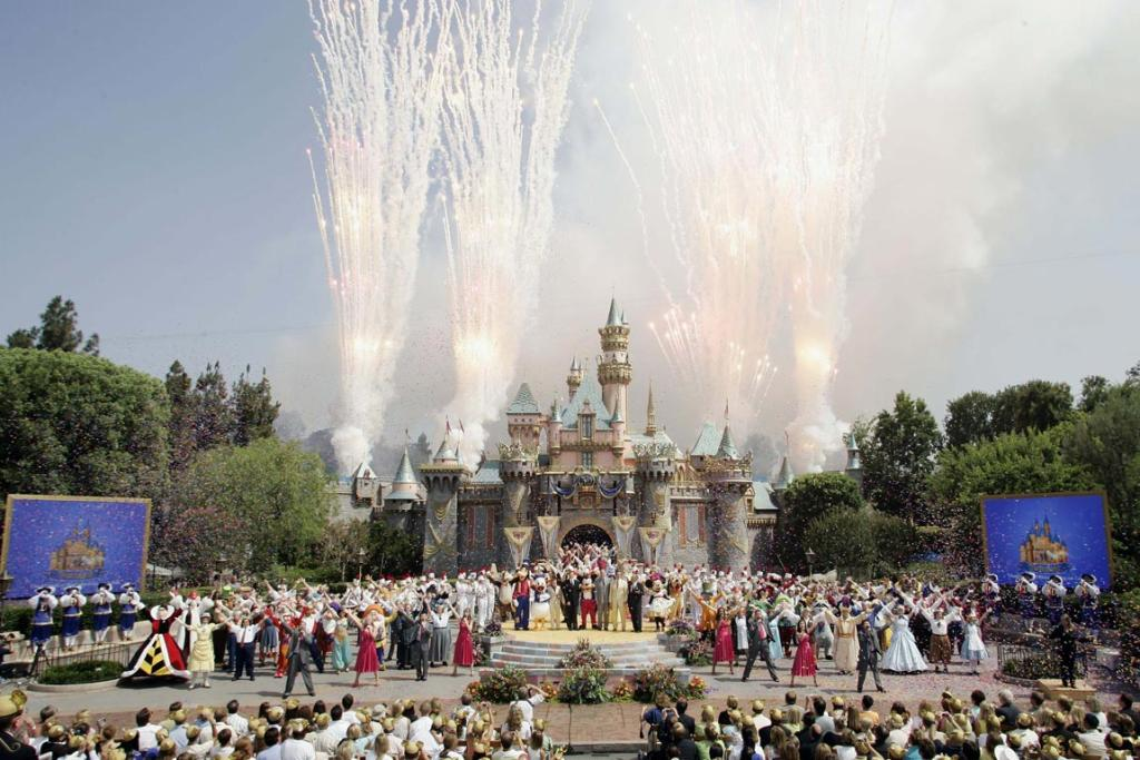 Celebrations mark the 50th anniversary of Disneyland in Anaheim, 2005.