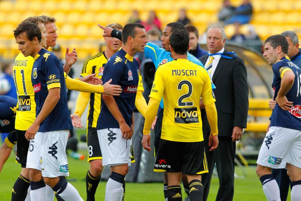A stoush during the second half when Manny Muscat of Wellington was handed a yellow card.