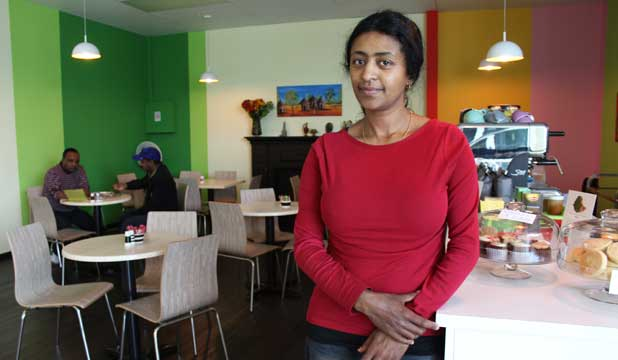 ETHIOPIAN EATERY: Bebeta Asfaw opened Cafe Abyssinia because she saw a need for an Ethiopian restaurant.