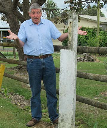 WHERE IS IT?: Bob Godward is trying to solve the mystery of the missing military marker sign.