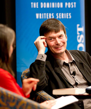 SPILLING THE BEANS:  Ian Rankin ponders a question at  The Dominion Post Write Stuff event.