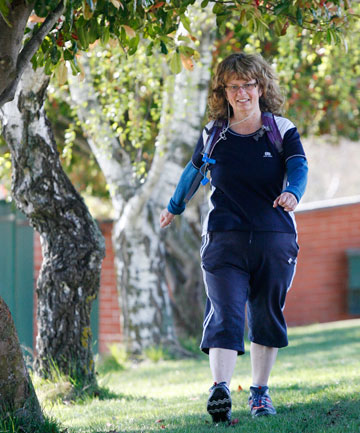Fleur Lind's half-marathon walk at last month's South Island Master Games raised $1800 for Hayden Vaughan's project to get copies of All Blacks Don't Cry into schools.