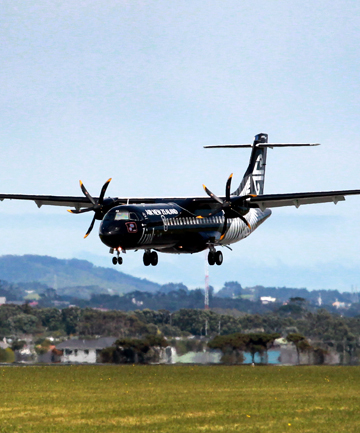 The new Mt Cook Airlines ATR-600 flew into New Plymouth airport yesterday