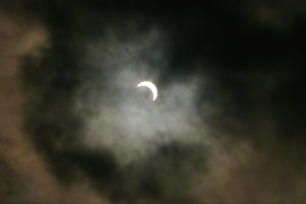 The eclipse is seen in this photo sent in by reader Igor de Borst.