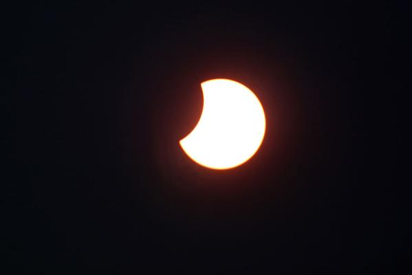 The eclipse - caused when the moon passes directly between Earth and the sun - was visible around most parts of New Zealand.