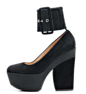 The block platform heel: Céline.