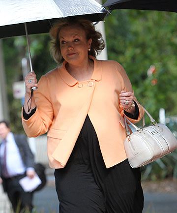 JUDITH COLLINS: Arriving at court for the settlement hearing today.