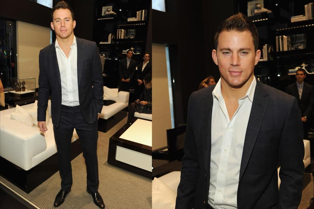 Channing Tatum attends the IWC Flagship Boutique New York City Grand Opening.