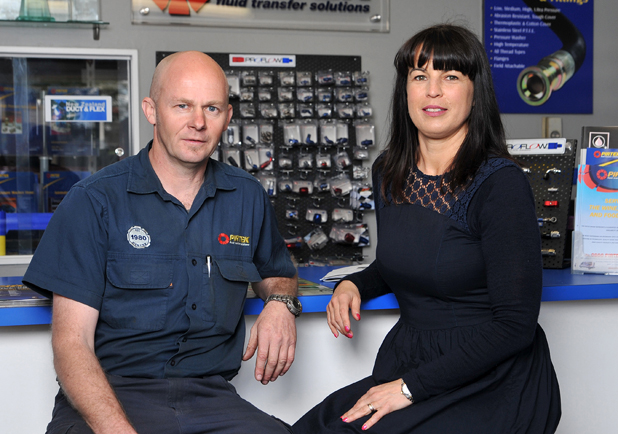Adding value: Matt Spragg and Carolyn Davies say their Pirtek franchise's growth in the past three years is down to diversifying, marketing, hard work and great staff.