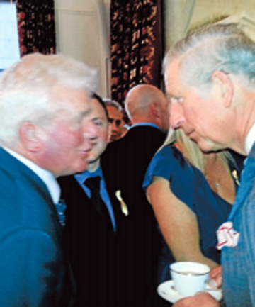 GIDDAY: Wakefield farmer John Levy and Prince Charles get acquainted.