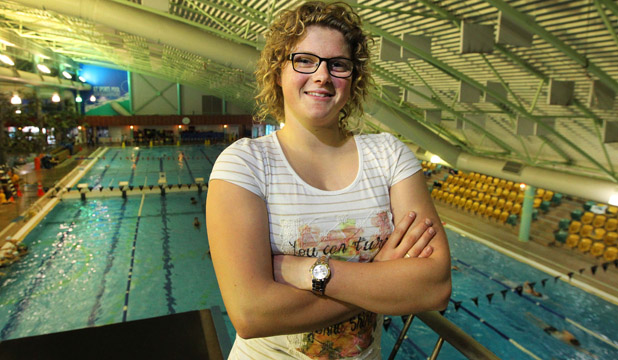 NO REGRETS: Natalie Wiegersma, at Splash Palace yesterday, has turned her back on competitive swimming after losing her drive and passion for the sport.