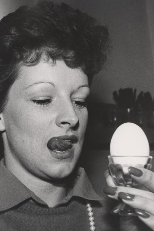 """MYSTERY: Marie Smith admitted that she's the subject of this photo, taken in the 1980s to accompany an article about an increase in the price of eggs. """"That was way back at the Commercial Hotel (which is now the car park of Smith City),"""" she said. """"Obviously you had no news that day."""" Mrs Smith said she had to look twice at the photo when she saw it last week. """"I said to myself, 'Oh my God.' My husband said, 'I thought it was you but I wasn't sure.'"""""""