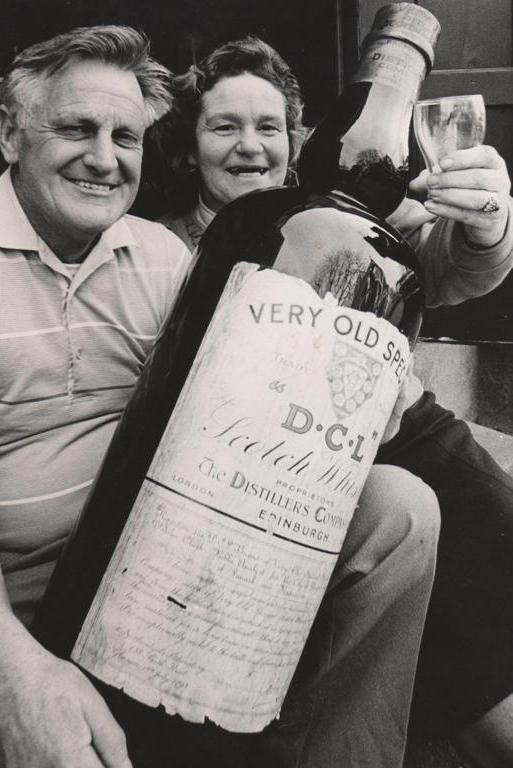 """CHEERS: We received this kind note from Rhonda Currie, of Kurow: """"This photo is of my parents, Doreen and Ron Proctor, antique dealers in Timaru in the 1980s. Sadly, both passed away within three months of each other last year. This photo was probably taken at one of their auctions. Was lovely to see it in the paper today. Thanks, Timaru Herald."""" Another person added that the photo was likely taken at one of the Proctors' antique auctions, which """"always drew large crowds""""."""