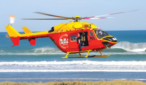 The right machine: The new Westpac Waikato air ambulance, which is similar to this  Kawasaki BK helicopter, will have the registration IRU – I Rescue U.