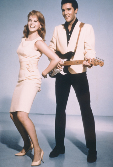 SNAPPY DRESSER: Elvis and actress Ann-Margret in the 1960s.