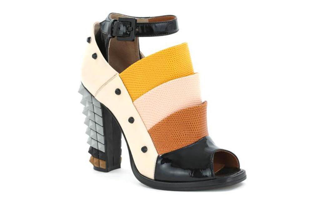"Fendi shoes. ""Like a shoe within a shoe, these Transformer-esque shoes look almost like armadillo amour."""