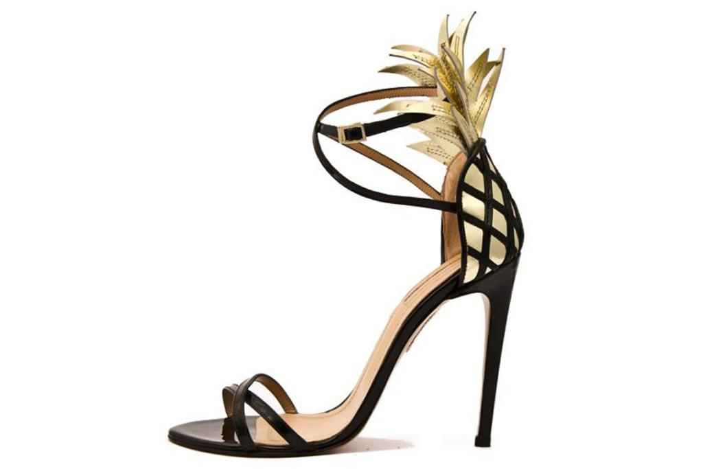 "Altuzarra sandals. ""These Deco-inspired pineapple shoes are great fun and perfect for parties."""