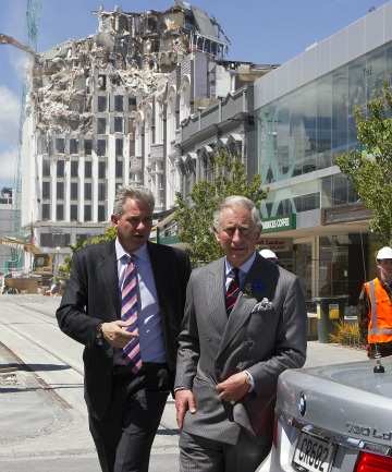 PRINCELY VISIT: Prince Charles took a walk through central Christchurch during his visit.