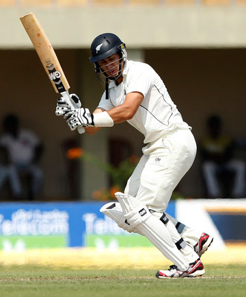 OUT: Ross Taylor loses his wicket early.