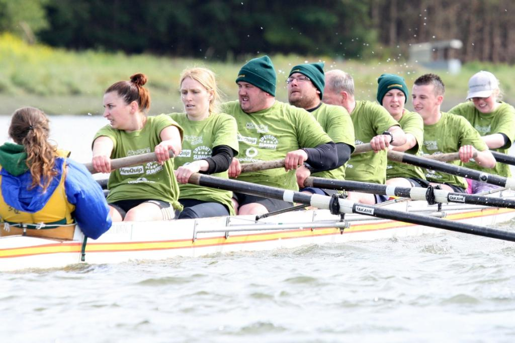 McIntyre Dick row in the Corporate Rowing Challenge on Oreti River on Saturday.