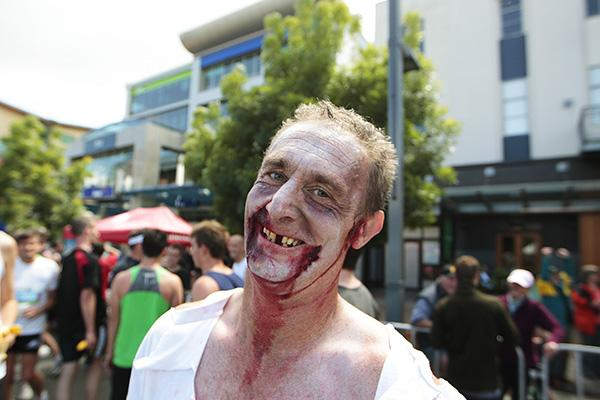 WALKING DEAD: Hamilton man Darryl Conn dressed up for the occasion.