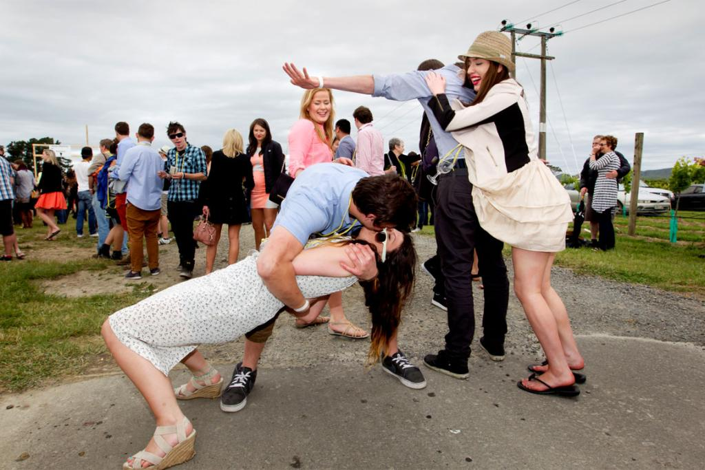 Toast Martinborough 2012 revellers enjoy the moment.