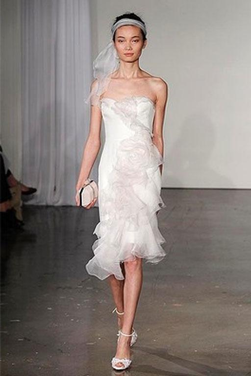 Sweet head bands at Marchesa 2013 Bridal Collection show.